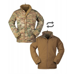 Куртка утепляющая двусторонняя Sturm Mil-Tec Сold Weather Jacket Reversible Multitarn®/Dark Coyote