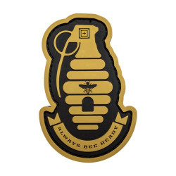 Нашивка 5.11 Tactical Bee Ready Patch, Black