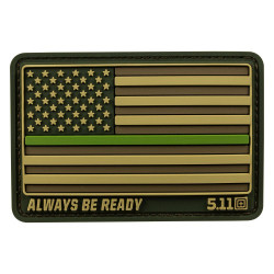 Нашивка 5.11 Tactical USA Flag Thin Green Line Patch